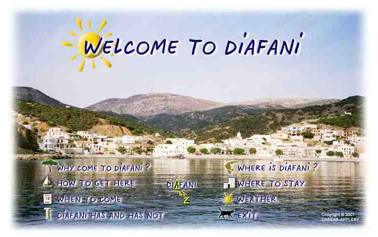The WELCOME TO DIAFANI website front page